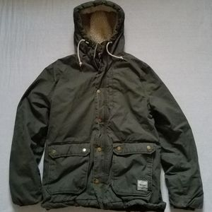 H&M Divided Parka Winter Jacket Hooded Quilted Mh